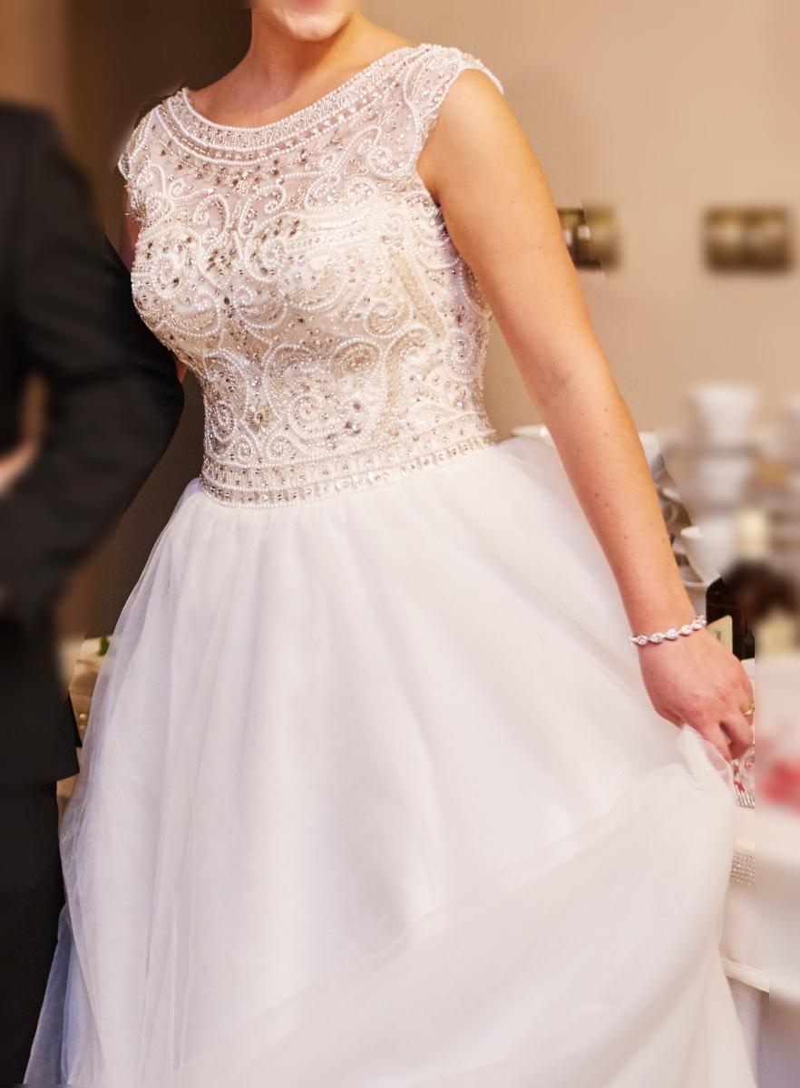 Bardzo dobry La Rosa Tarnów Suknie Ślubne KOMIS w Tarnowie: 149/2018 Rozmiar 40 HF31