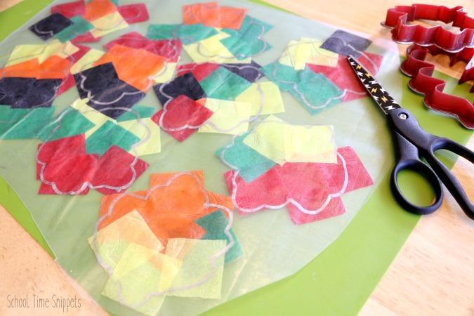 Fall Leaf Suncatcher Craft