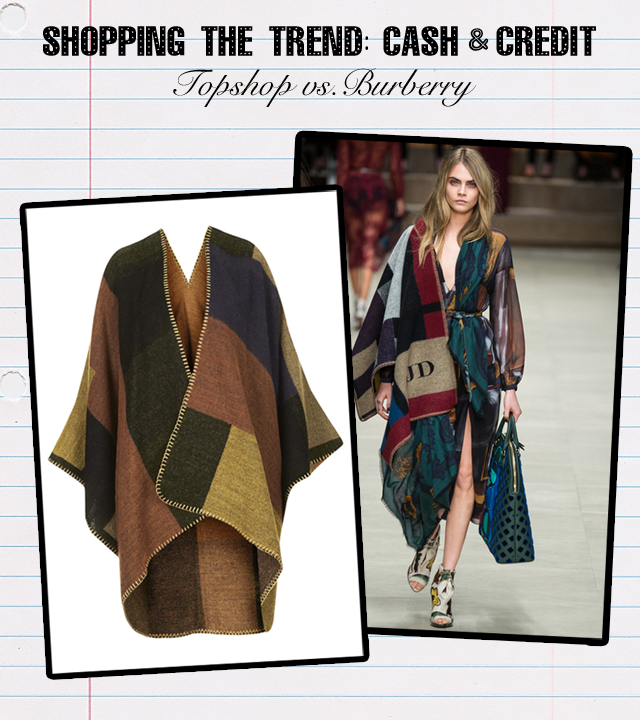 Blanket Poncho Burberry Topshop