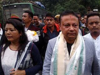 Anit Thapa in Kalimpong