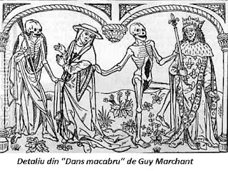 Detaliu din Dans Macabru de Guy Marchant
