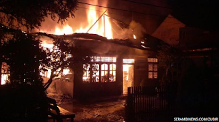 10 Rumah di Langsa Ludes Dilalap Api