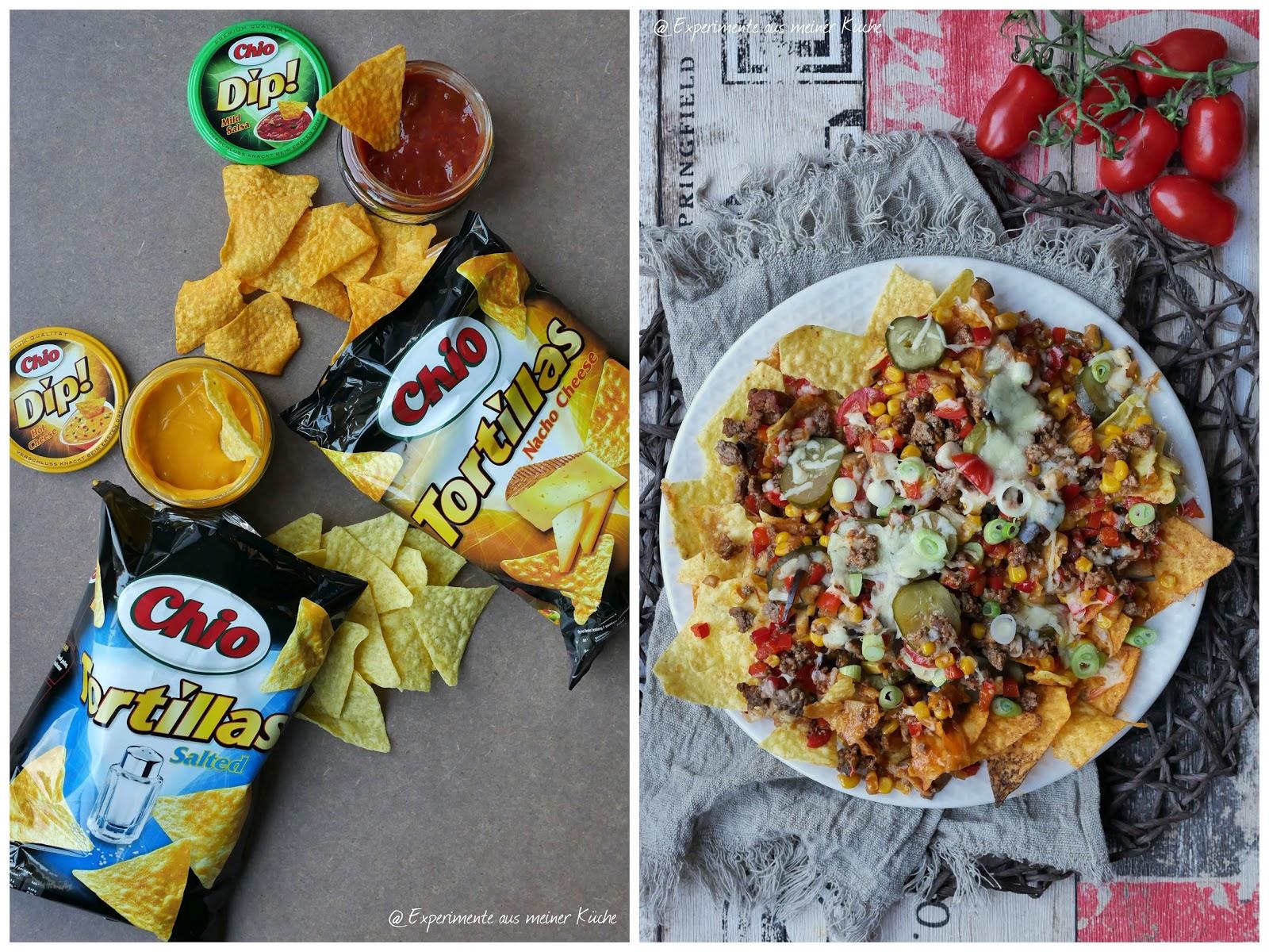 Experimente aus meiner Küche: Überbackene Chio Tortillas mit Hackfleisch