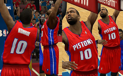 NBA 2K13 Detroit Pistons Alternate Red Jersey Update