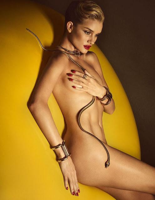 La Modelo Rosie Huntington Posa Desnuda Para La Revista Lui Al