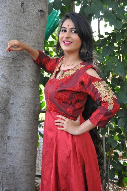 Priya Choudhary In Red Long Dress