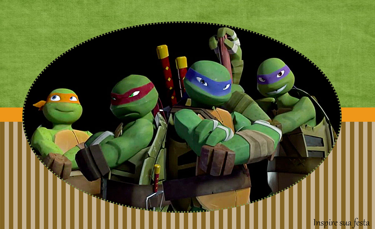 Ninja Turtles: Invitations, Labels and Free Party ...