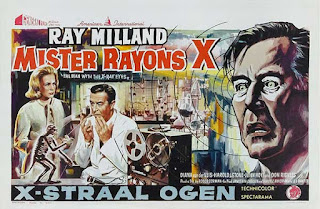 El hombre con rayos x en los ojos / Poster Original Francés