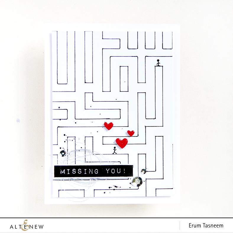 Altenew Calligraphy Maze Stencil | Erum Tasneem | @pr0digy0