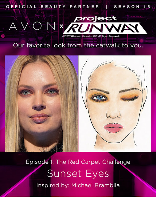 Project Runway Sunset Eyes Avon Makeup Runway Look