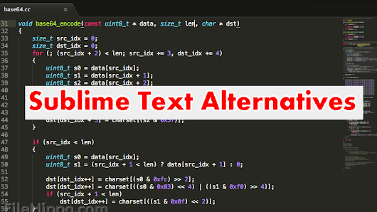 Sublime Text alternative: Top Open source text Editor for Coding