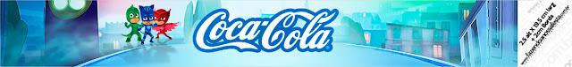 Etiquetas para botellas personalizadas de Super Héroes en Pijamas.