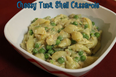 Cheesy Tuna Shell Casserole - ordinary, but in an extra kind of way! #tuna #recipe