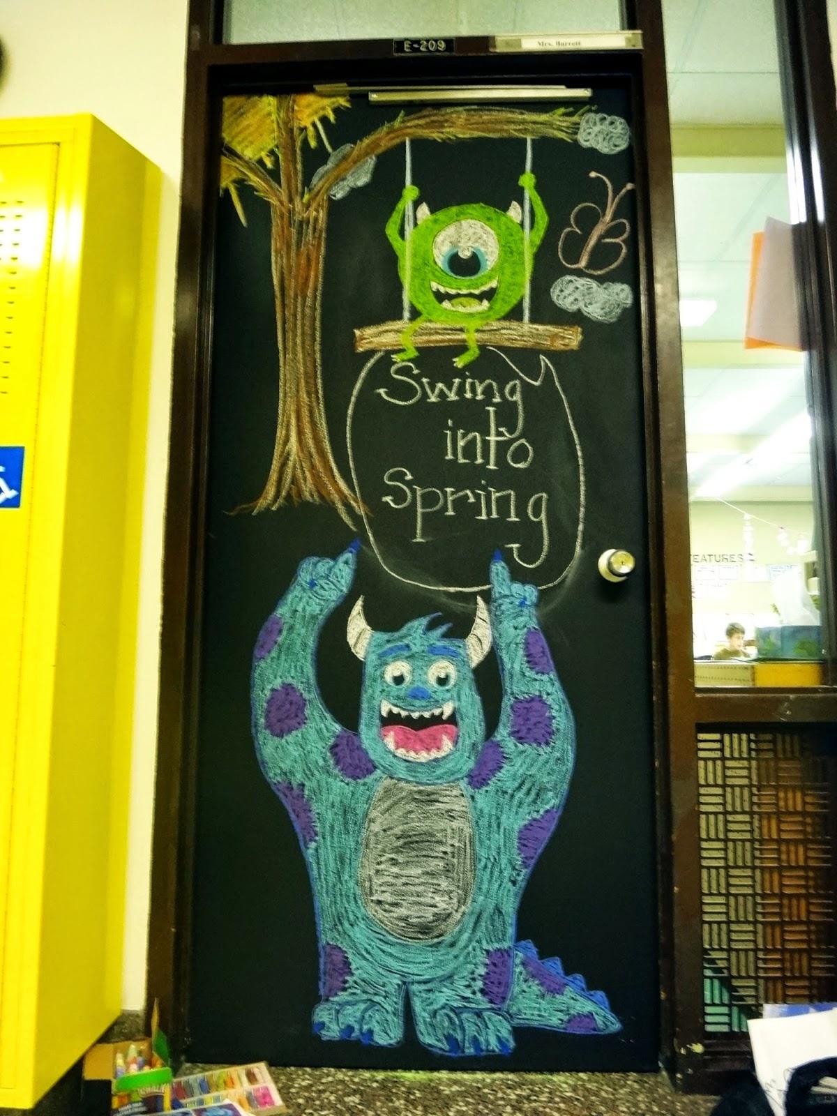 Kira's Crafty Life Blog: Monsters Inc Chalkboard Classroom