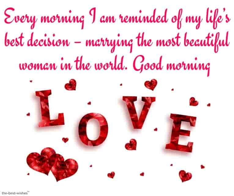 good morning messages for wife far away
