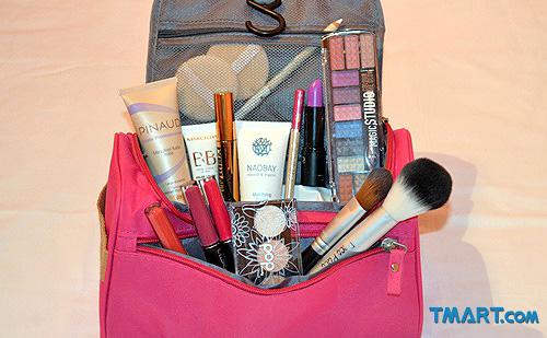 neceser de maquillaje rosa profesional Tmart