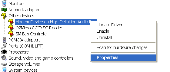 install unidentified device drivers