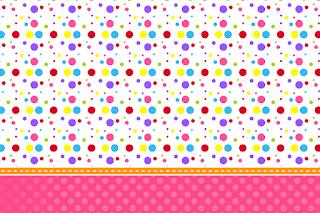 Para hacer invitaciones, tarjetas, marcos de fotos o etiquetas, para imprimir gratis de Puntos de Colores para Niña.