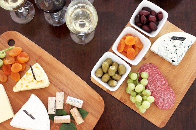 Wine and Cheese Party, Hosting a Girls Night Out, How to Host a Wine and Cheese Party, At Home, Serving ware
