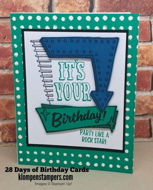 28 Days Of Birthday Cards--Card #2