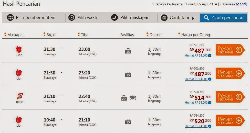 Cara Pesan Tiket Pesawat Online 3