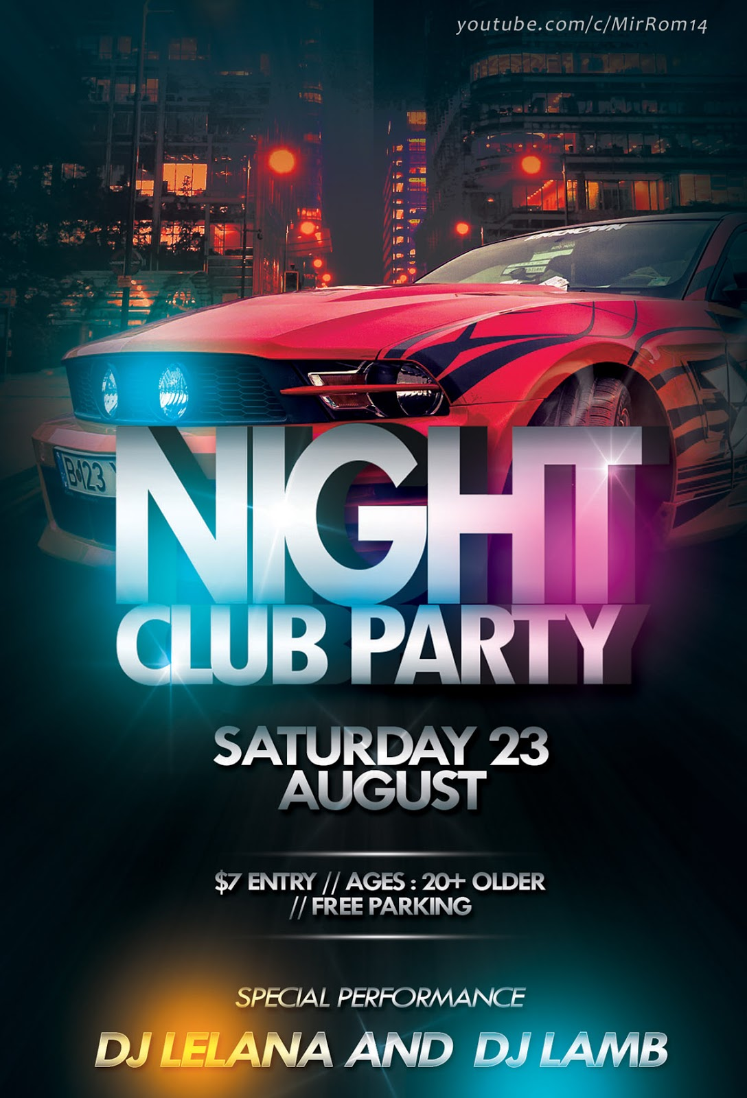 Create a Nightclub Party Flyer In Photoshop