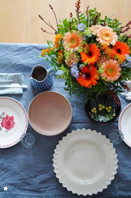 jolie table déco de table, arts de la table, vaisselle addict