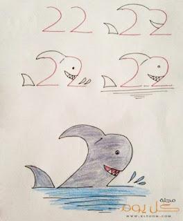 رسم لقرش قرش