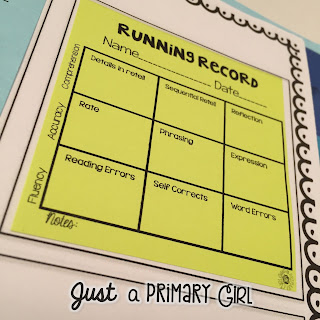 Running Records Just a Primary Girl