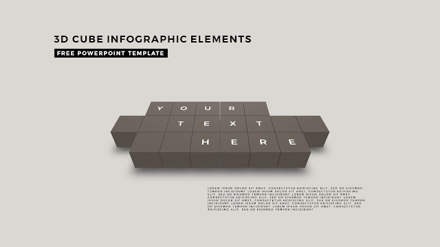 3D Cube Infographic Elements for Free PowerPoint Template Design Slide 9