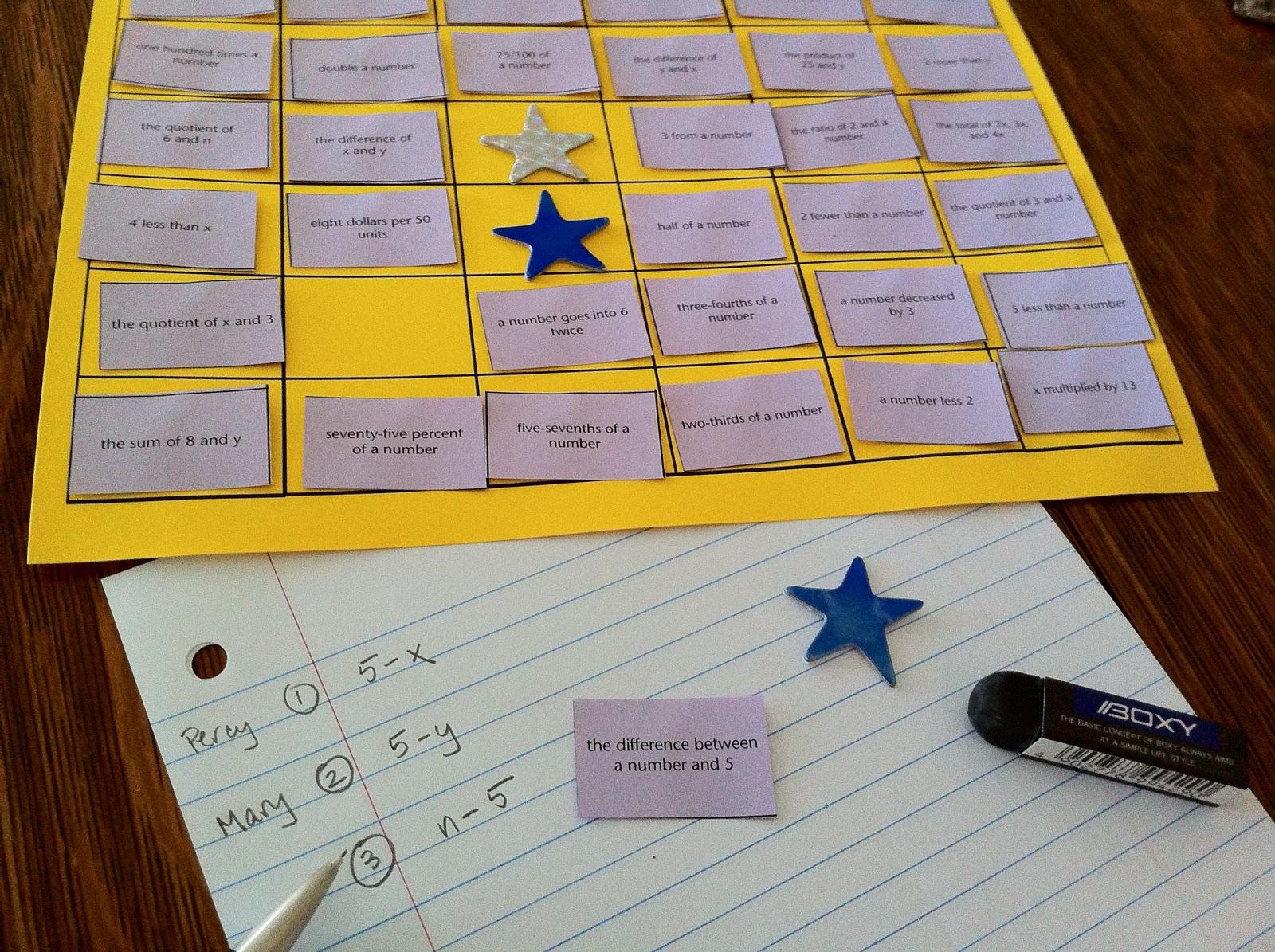 Cheesemonkey Wonders Week 1 Words Into Math Block Game