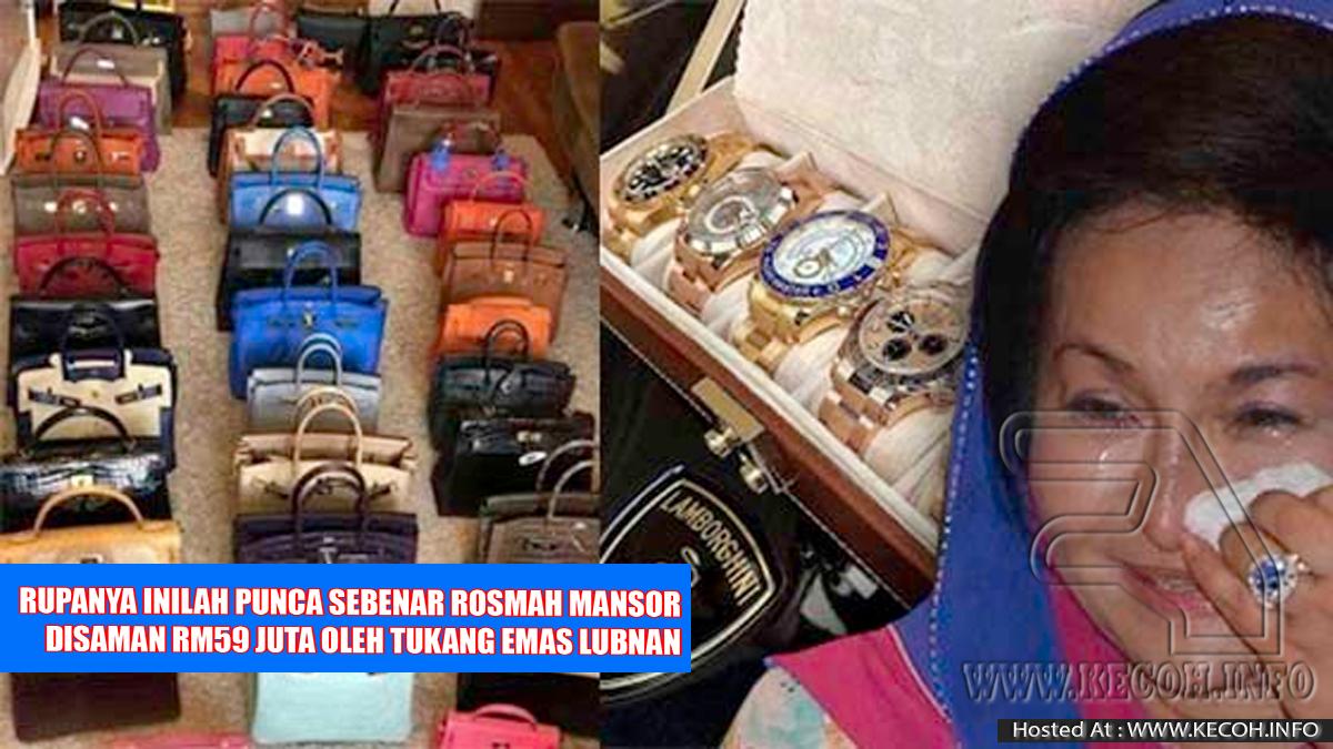 Rosmah Disaman RM59 Juta Oleh Syarikat Tukang Emas Lubnan