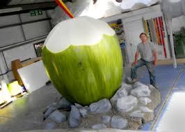 frutas gigantes de isopor
