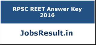 RPSC REET Answer Key 2016