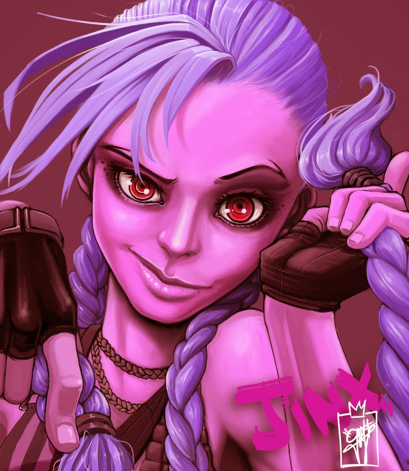 Jinx! fanart beautiful lol draw