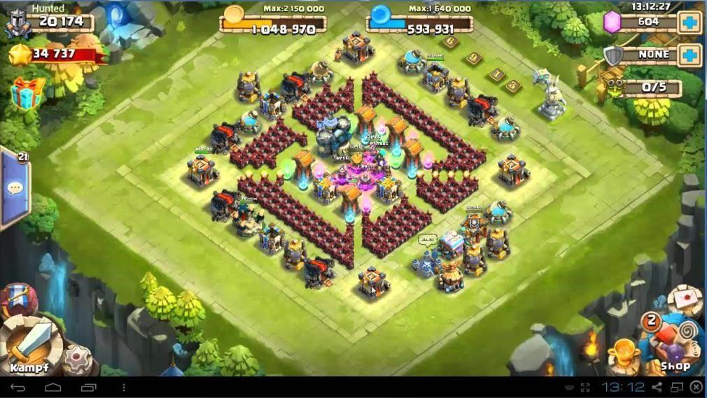 clash of clans 6. seviye köy binas? düzeni