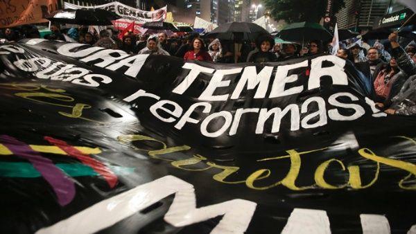 Brasileños tomarán las capitales del país para exigir la renuncia de Michel Temer