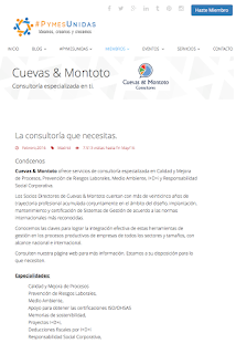 perfil de Cuevas y Montoto Consultores en somospymesunidas.es