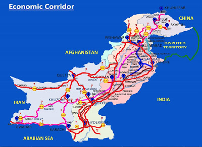 File:Pakistan And China Cpec Corridor Map.svg