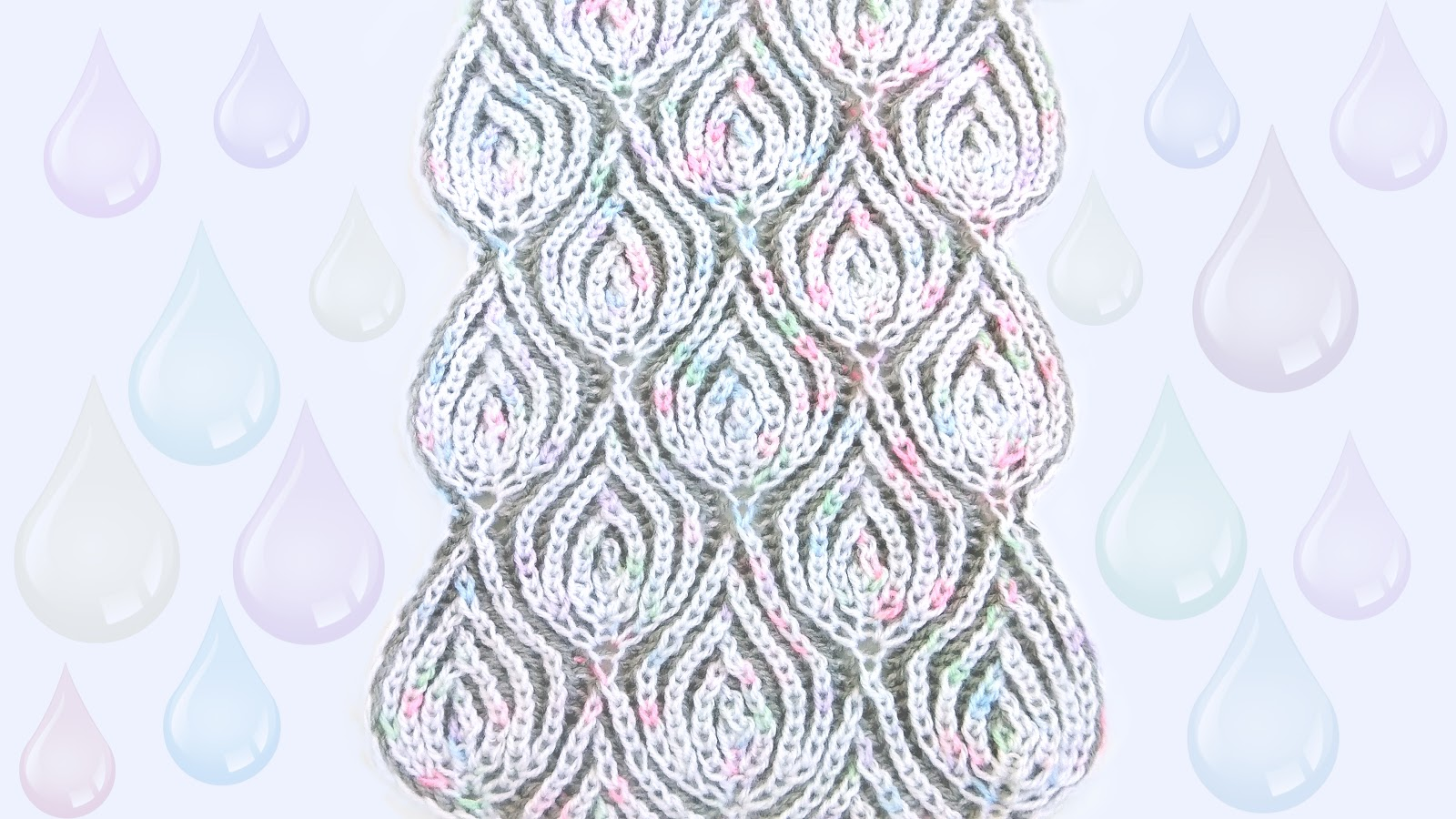 Waterdrop Scarf - Brioche Knitting