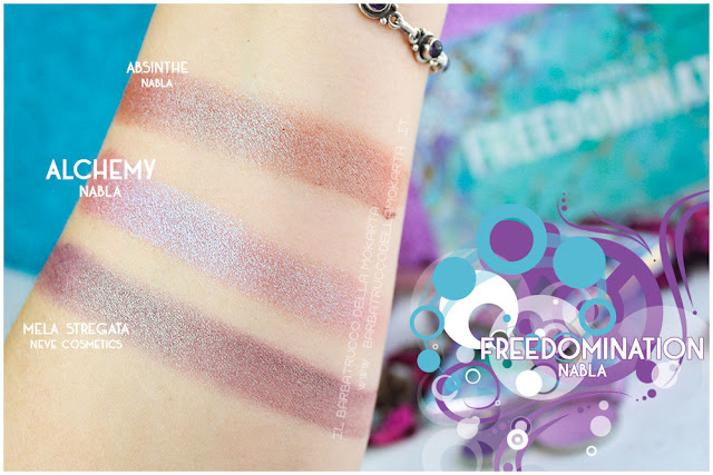 alchemy comparazione  nabla cosmetics freedomination collection summer eyeshadow