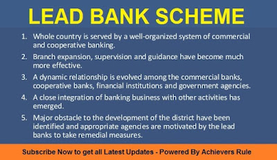 Lead Bank Scheme - Introduction and Function