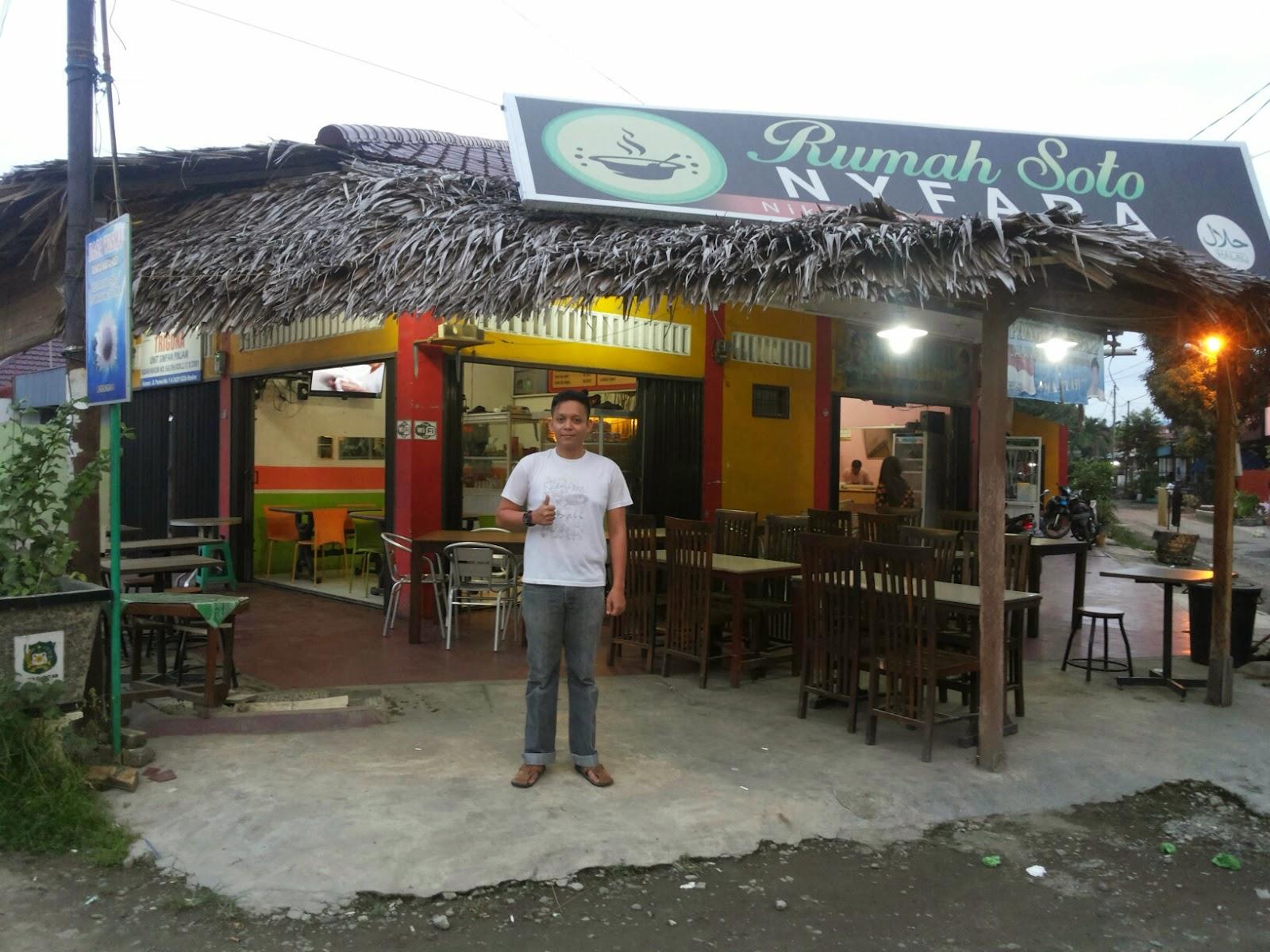 Bermula Kecemplung Nasi Soto, Fajri Siregar owner dari Rumah Soto Nyfara