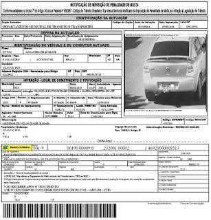 policia mg - multa de trânsito