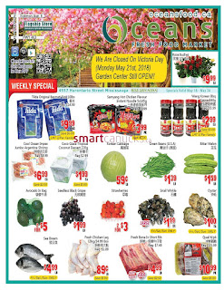 Oceans Mississauga weekly flyer May 18 - 24, 2018