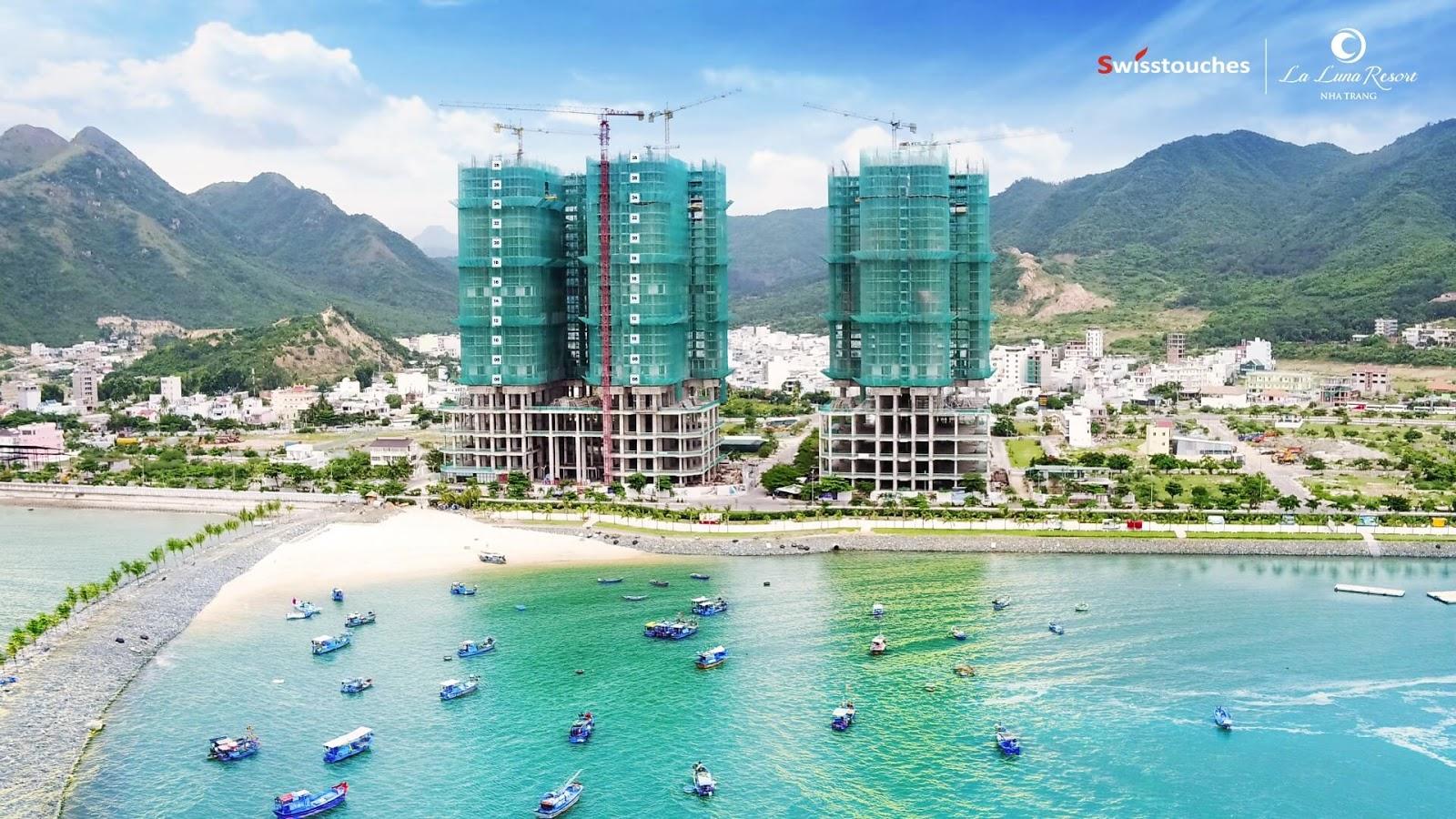 Tiến độ xây dưng mới nhất của Swisstouches La Luna Resort tại Nha Trang