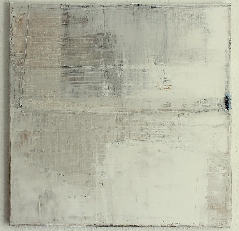 Christian hetzel grey white painting for Minimal art kunst