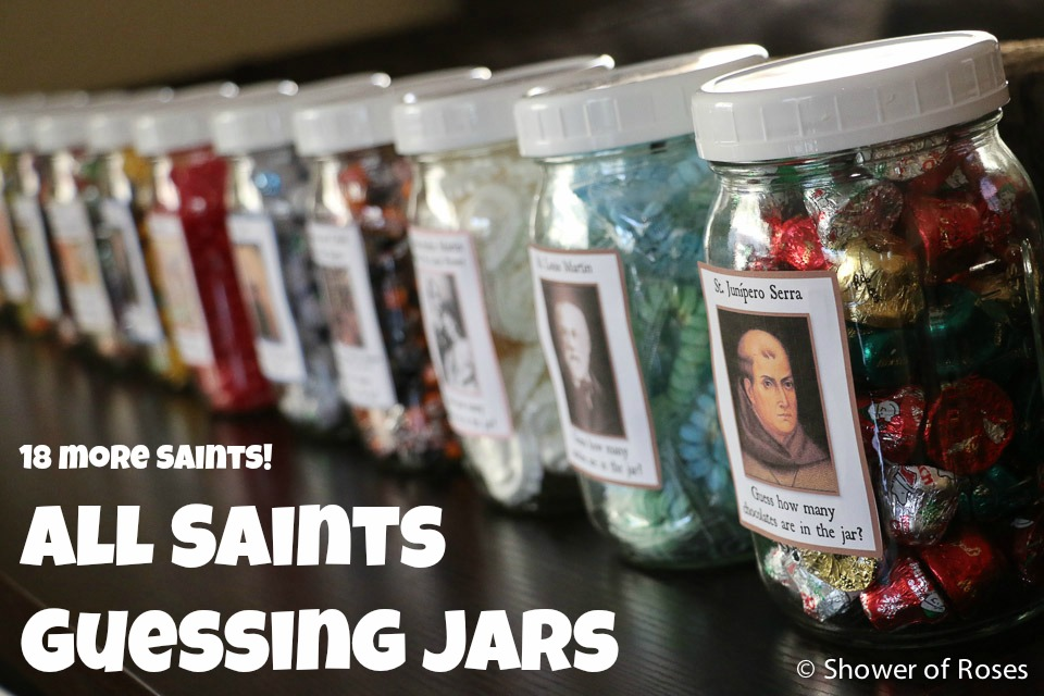 Shower Of Roses All Saints Guessing Jars 18 More Saints