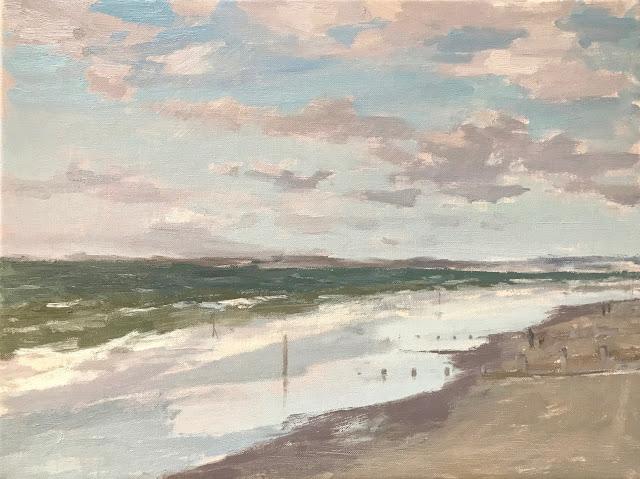 #289 'Winter, West Wittering Beach' 12×16″
