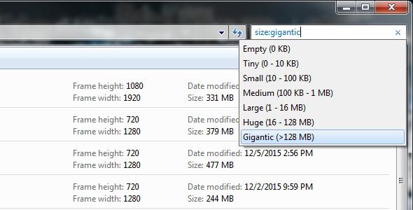 Mencari File Berukuran Besar dengan Menggunakan Windows Explorer
